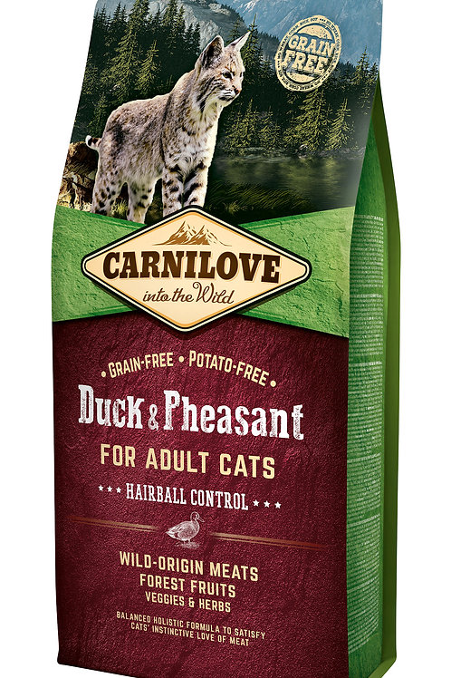 Carnilove Cat Duck & Pheasant - Hairball Controll 6kg