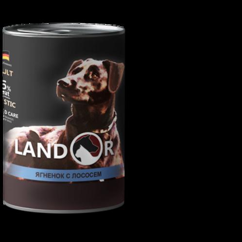 Вологий корм для собак всіх порід ягня з лососем