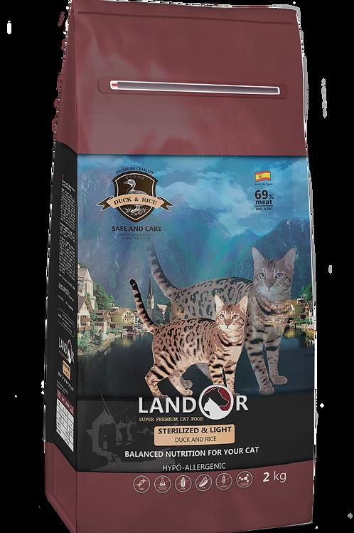 Корм для стерелізованих котів з надмірною вагою Sterelized&Light Качка з рисом
