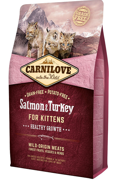 Carnilove Cat Salmon & Turkey Kitten Лосось з індичкою для кошенят