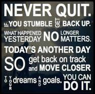 NEVER GIVE UP…..