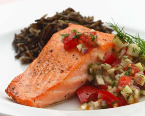 Pan-Seared Salmon with Fennel & Dill
