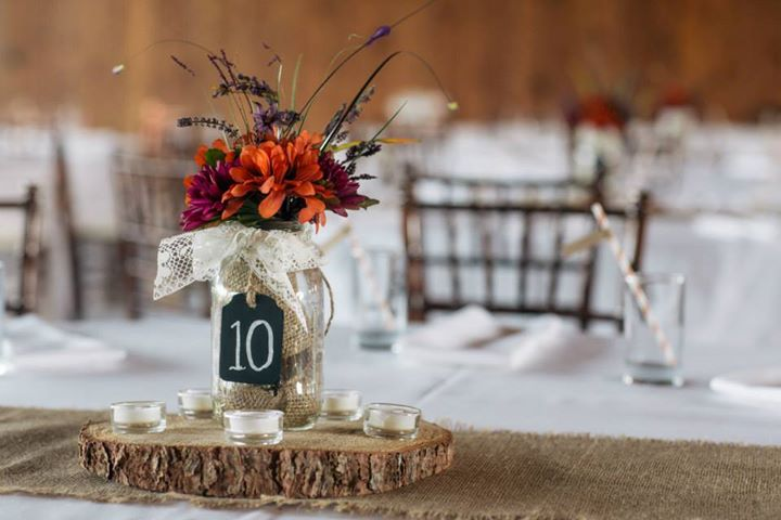 Rustic Can Flower Centerpieces