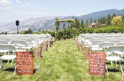 Custom Signage and Wedding Trellice