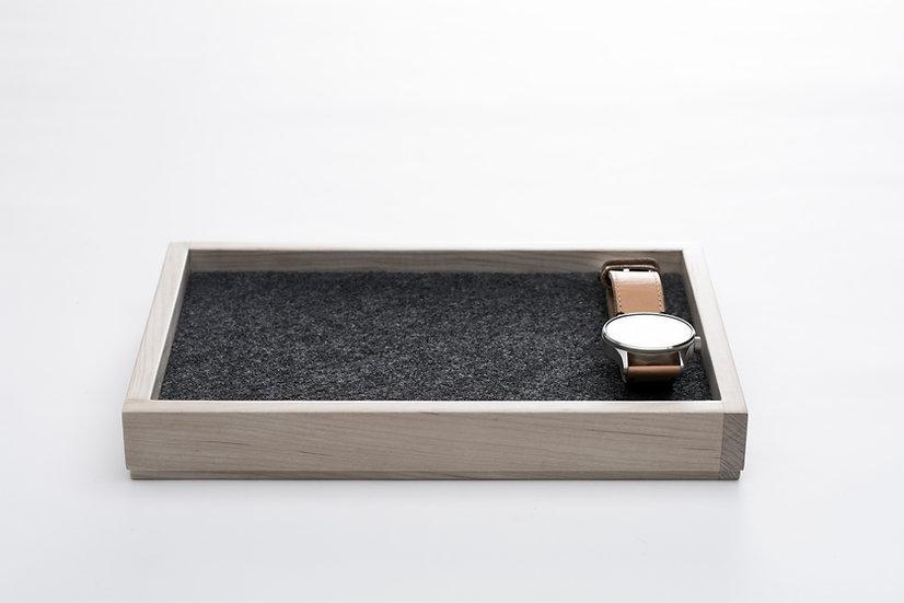 Maple wood and felt valet tray