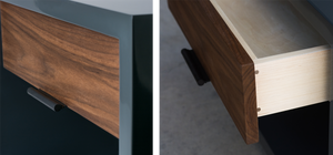 Modern nightstand drawer details