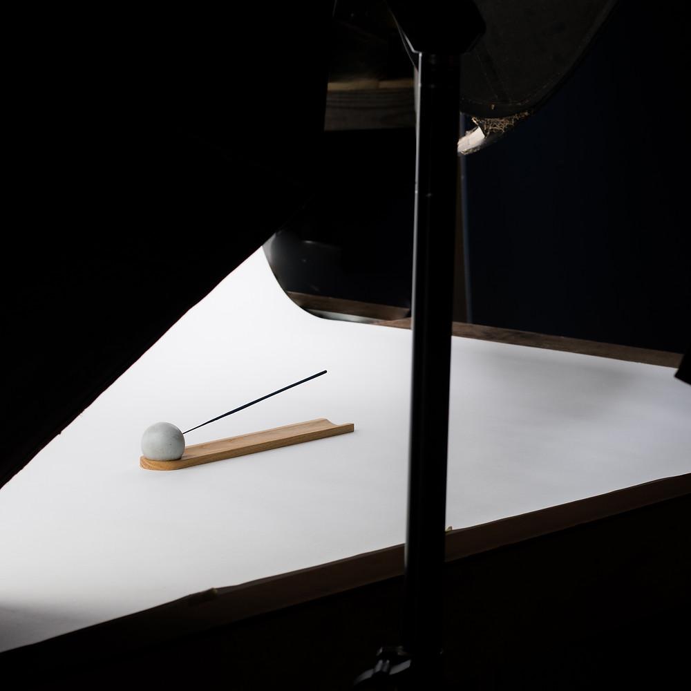 Komolab photography shoot - modern incense burner