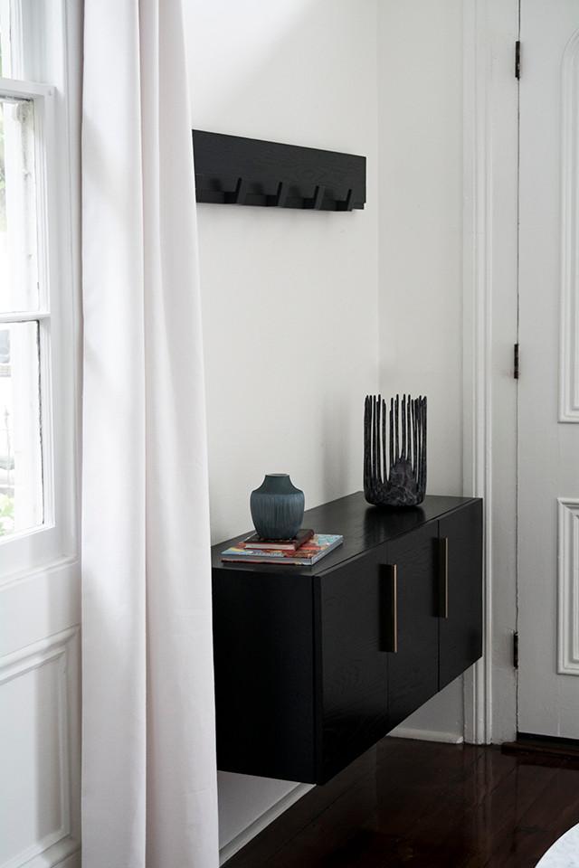 Wall mounted ebony furniture
