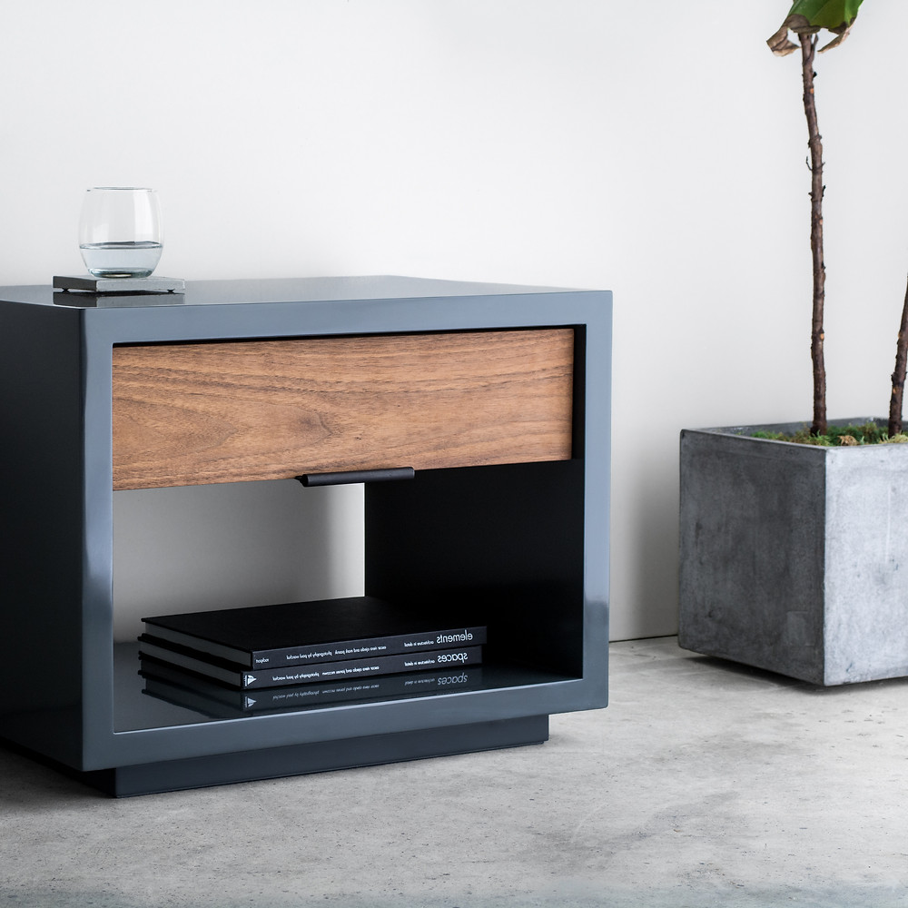 Modern nightstand - lacquer finish - handmade furniture
