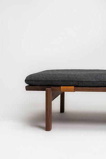 Walden walnut wood and wool cushion dog bed