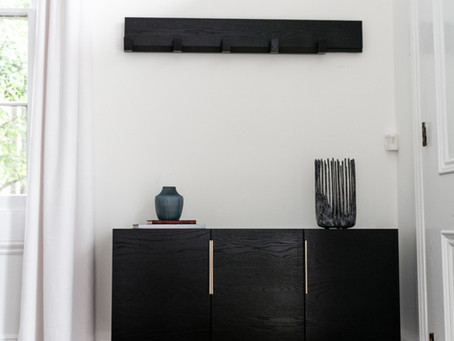 Custom ebony credenza build
