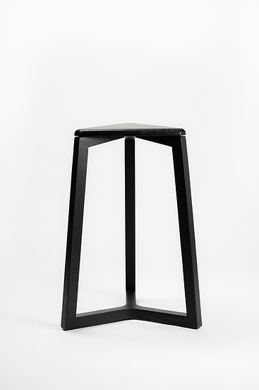 Modern ebony kitchen bar stool made of solid wood