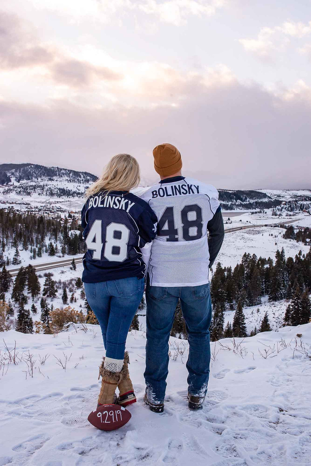 Football Coach Engagement Pictures