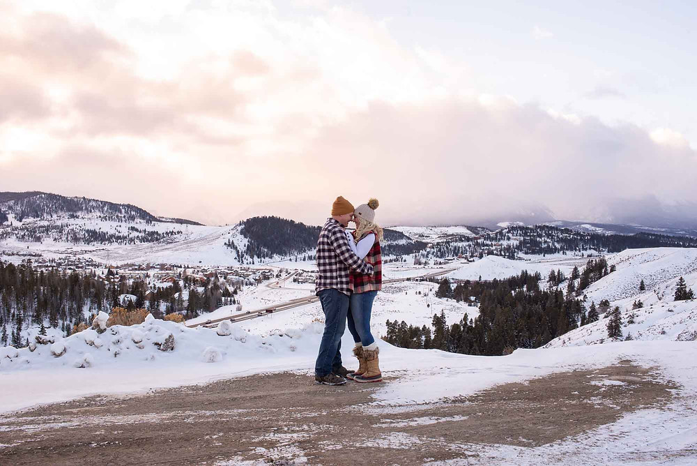 Keystone Engagement with Views Toward Breckenridge