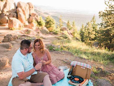 Phil & Angie's Boulder Sunrise Engagement Session