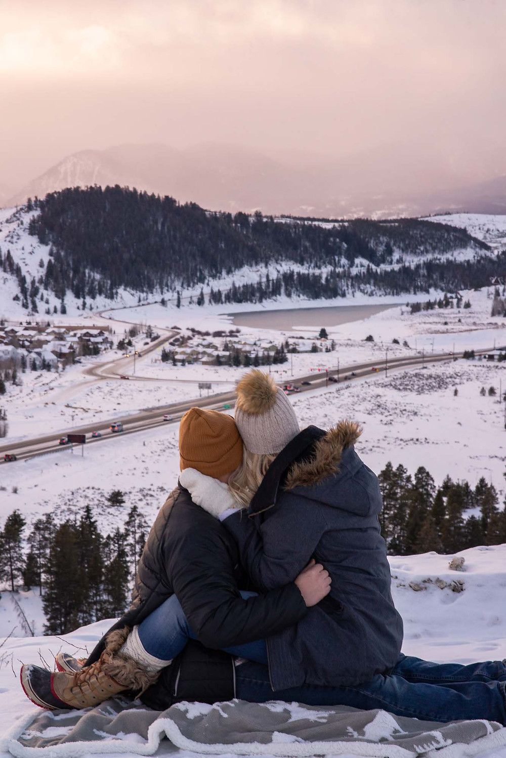 Engagement Session View of Swan Mountain Road