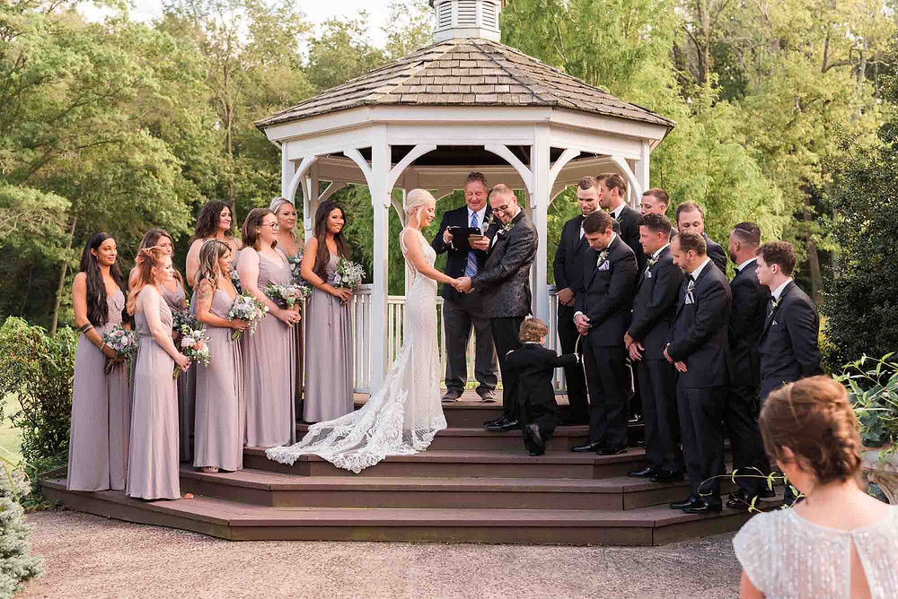 Ceremony at Brandywine Manor House in Pennsylvania