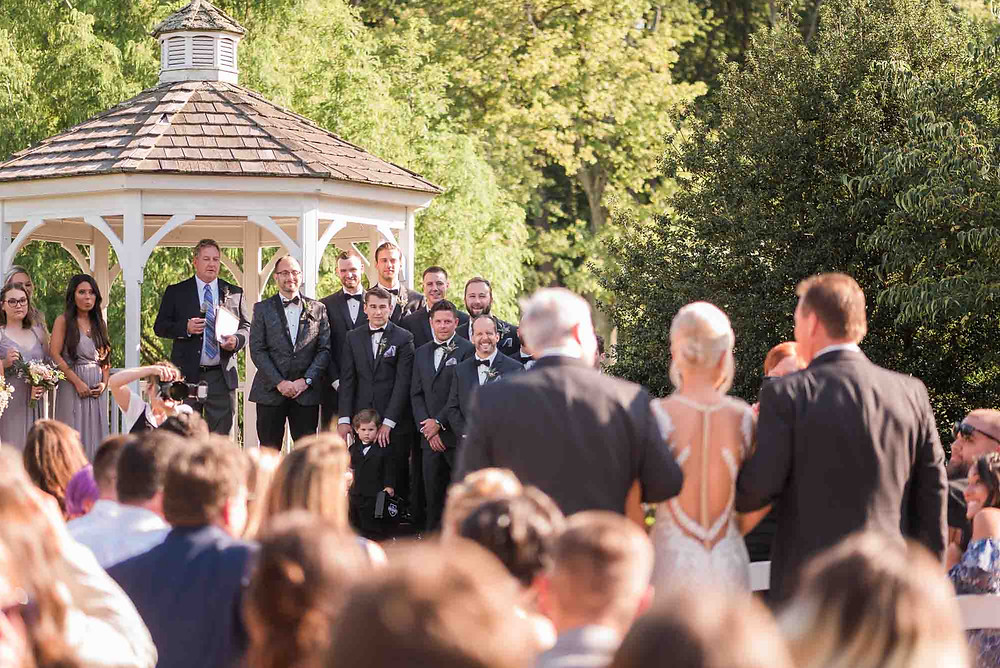Groom Waiting for Bride at Altar of Brandywine Manor House