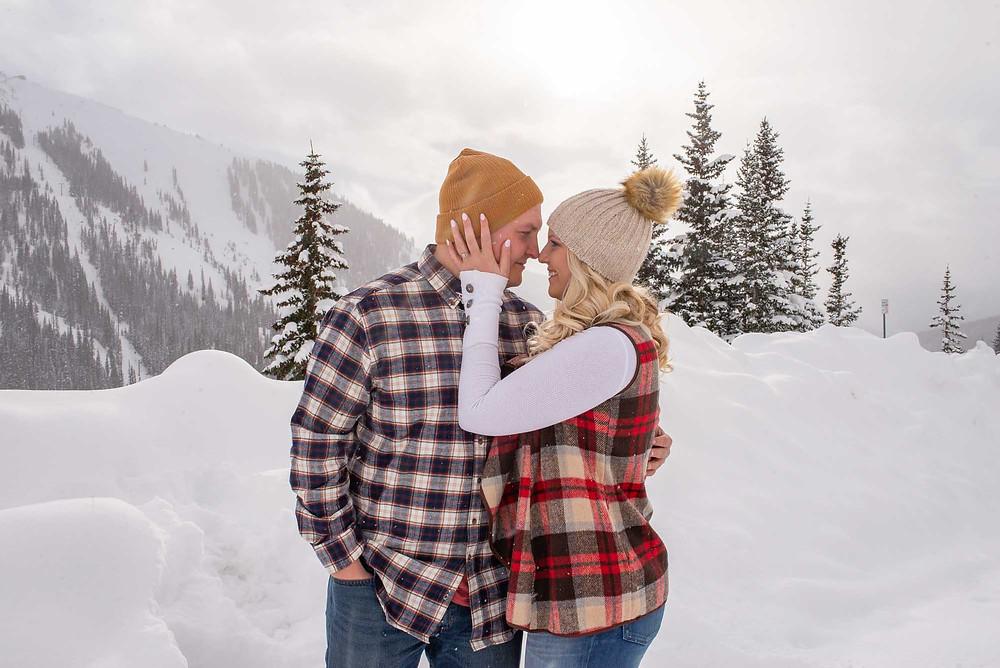 Snowy Mountain Engagement on Loveland Pass