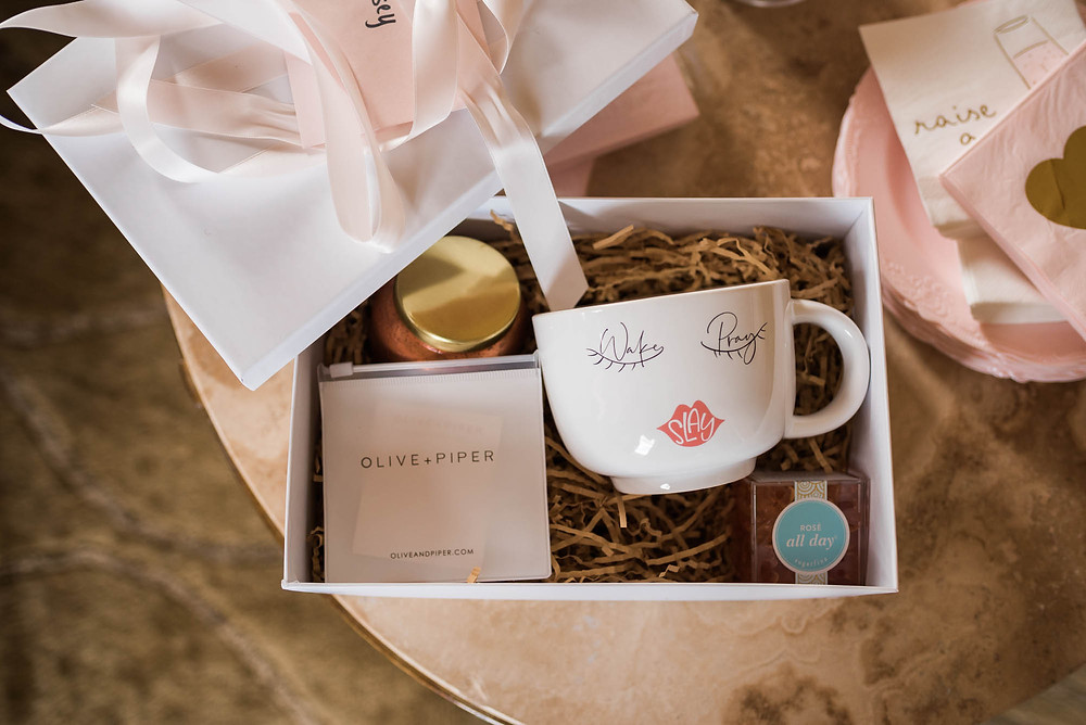 Bridesmaid Gifts with Candle, Mug, Sugarfina, Olive and Piper
