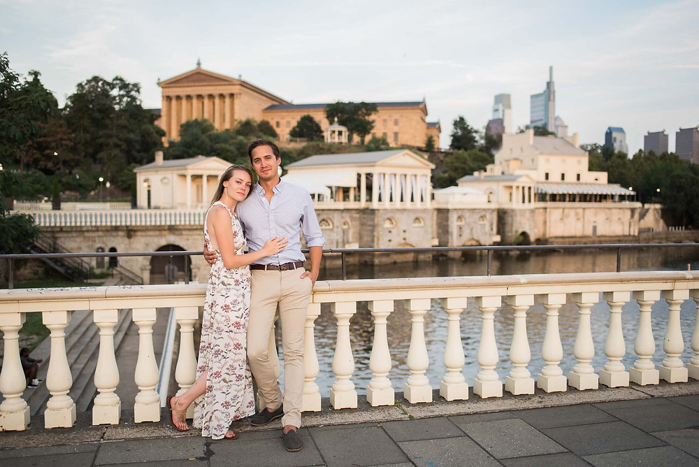 Engagement Photos at the Philly Art Museum