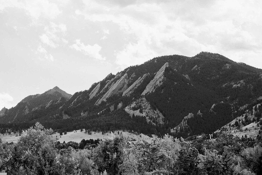 View of Boulder Flatirons and Chautauqua from St. Julien Hotel Room