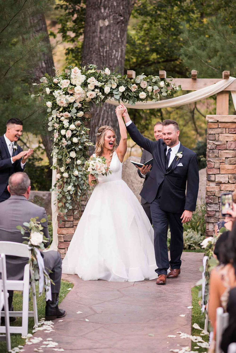 Bride and Groom Celebrate Marriage at Wedgewood Boulder