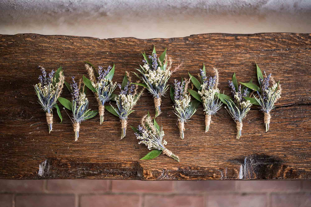 Rustic Boutonnieres at the Brandywine Manor House in Pennsylvania