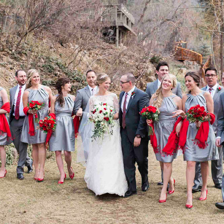 A Winter Wedding with Romantic Red Details