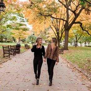 Kate & Sarah's Washington Square Park Philadelphia Engagement