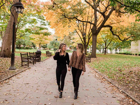 Kate & Sarah's Washington Square Park Philadelphia Engagement