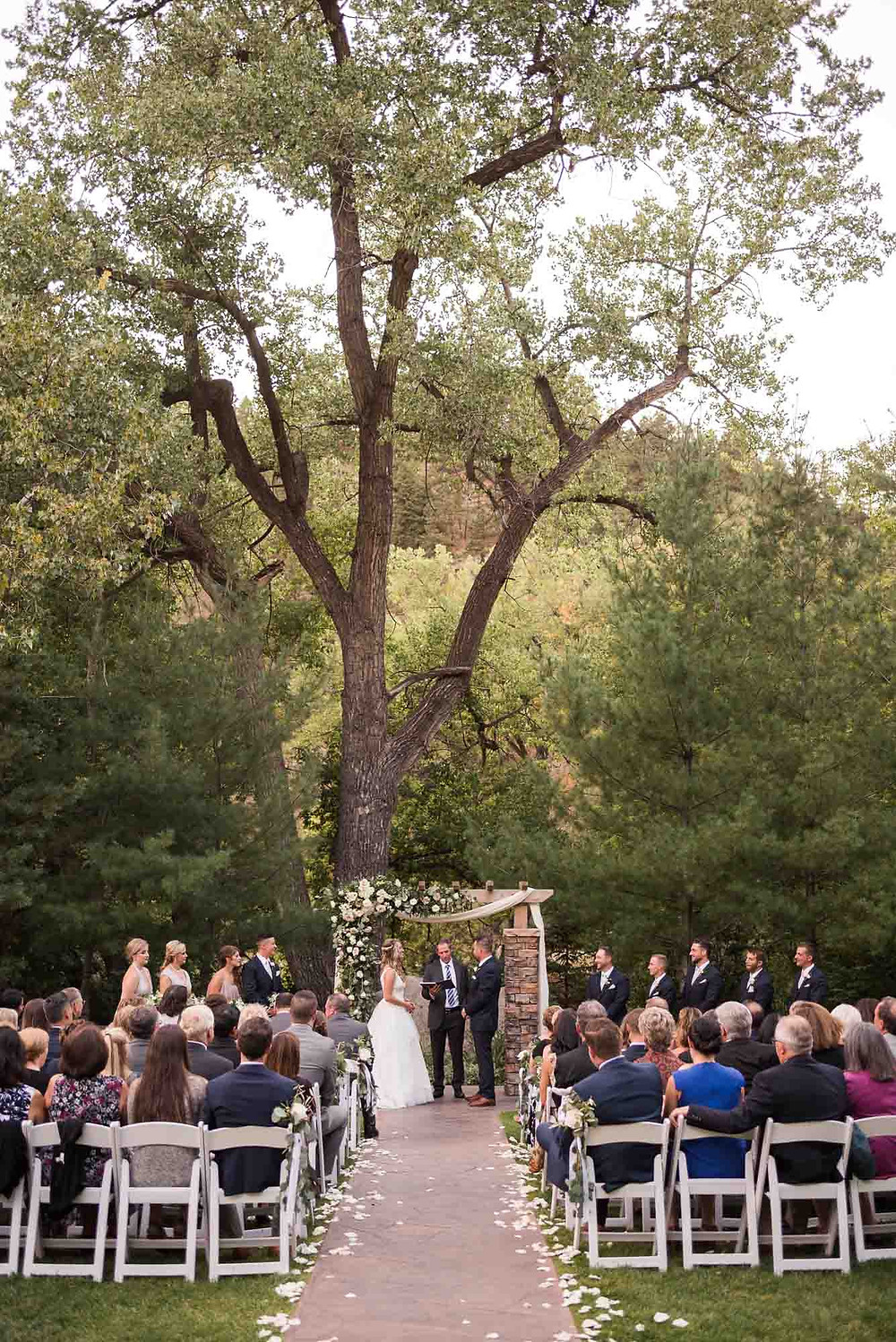 September Wedding Ceremony at Wedgewood on Boulder Creek