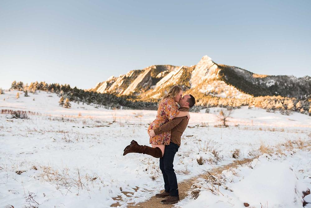 Chautauqua Boulder Morning Engagement Photos