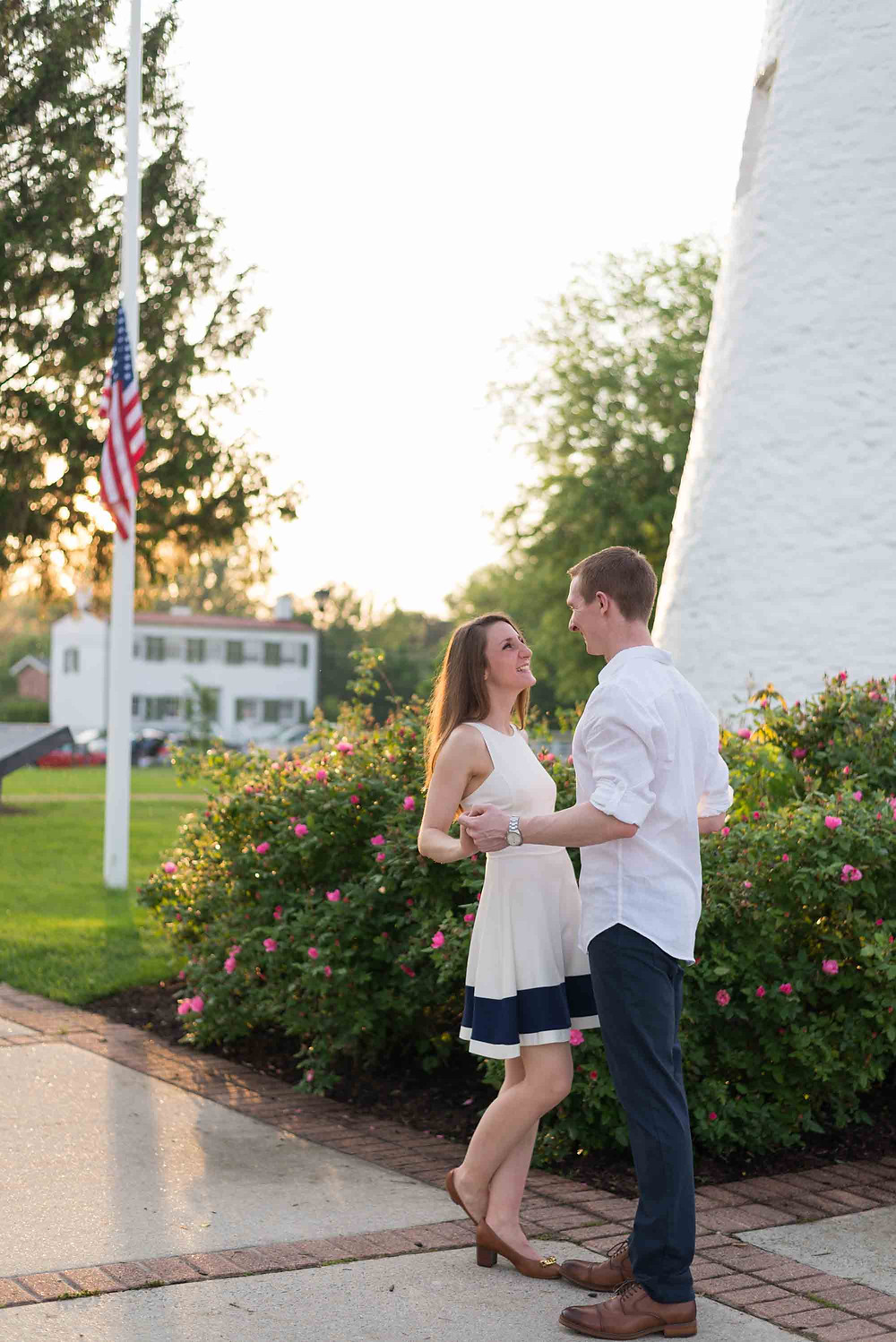 Colonial American Beach Engagement