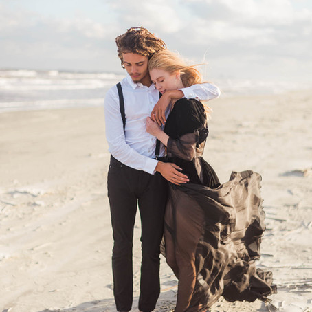 Elegant Engagement Portraits on a Southern Island
