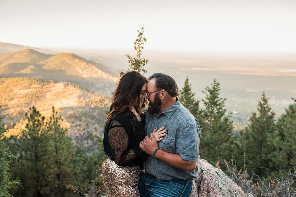 Rock and Roll Couple Engagement Colorado