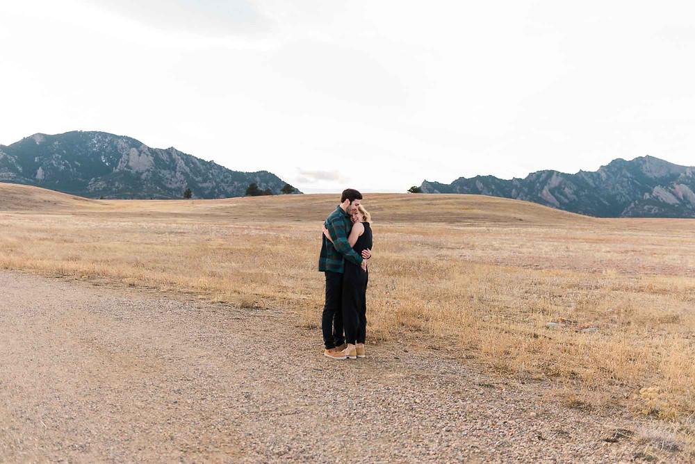 Boulder's South Mesa Trail Winter Engagement