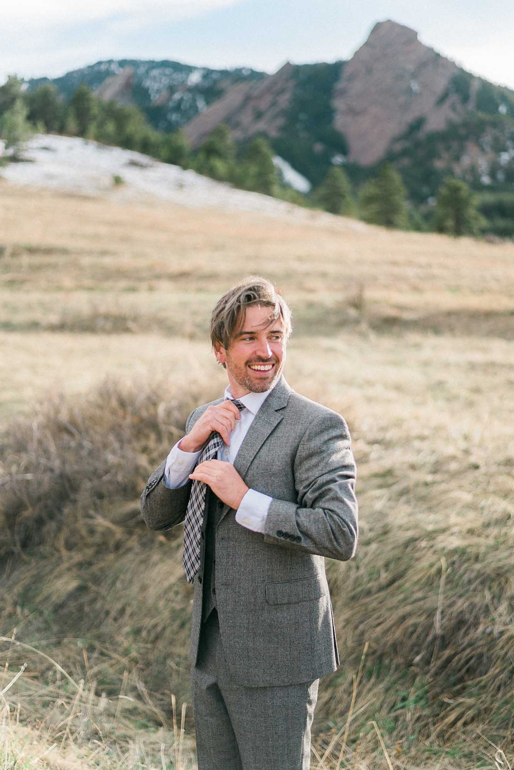 Groom at Chautauqua Park Boulder in March