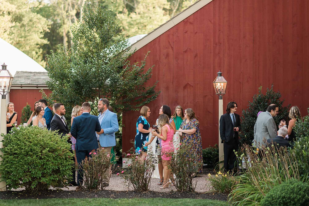 Cocktail Hour at the Barn at Brandywine Manor House