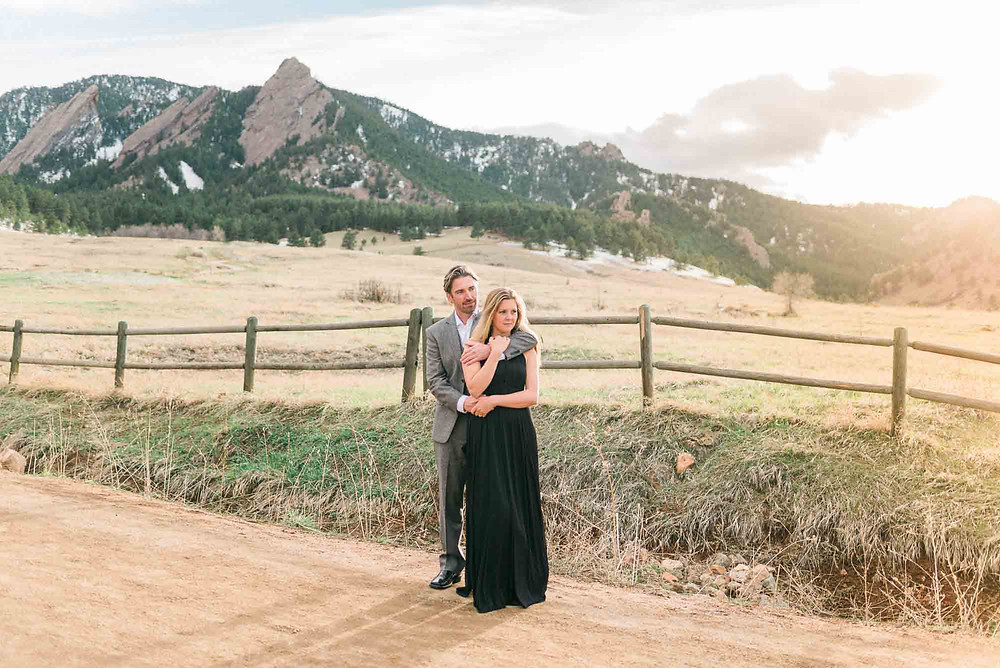 Winter Engagement Session at Chautauqua Trail