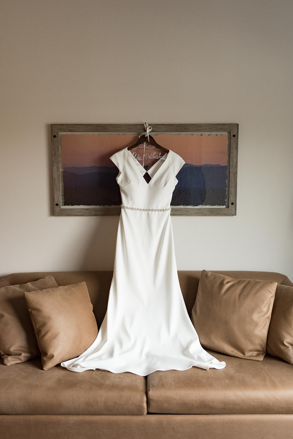 Badgley Mischka Sawyer Gown at Valley Forge Pennsylvania Wedding