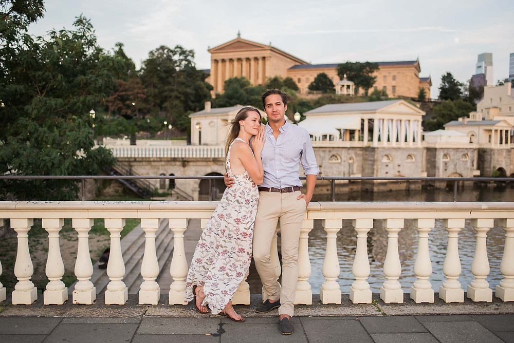 Engagement Photos at the Philadelphia Art Museum