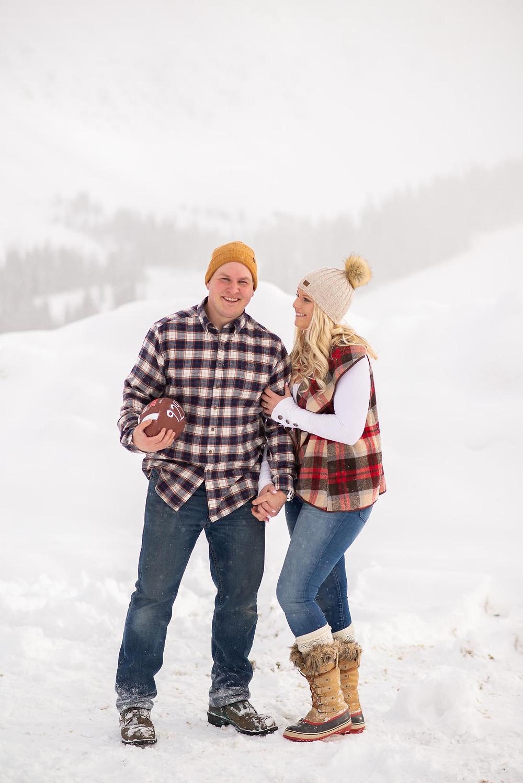 Winter Football-Themed Engagement
