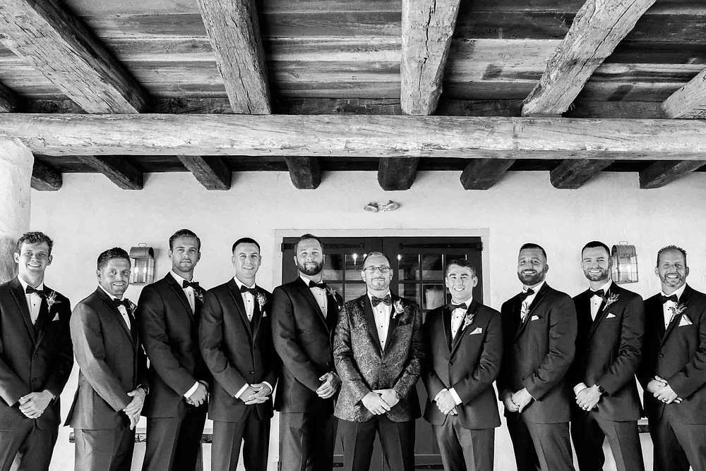 Groomsmen Beneath Barn at Brandywine Manor House
