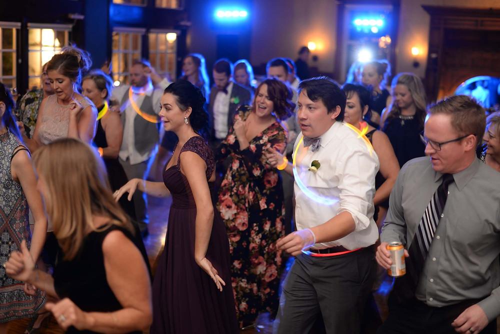 Glow Sticks Wedding Reception Dance Floor