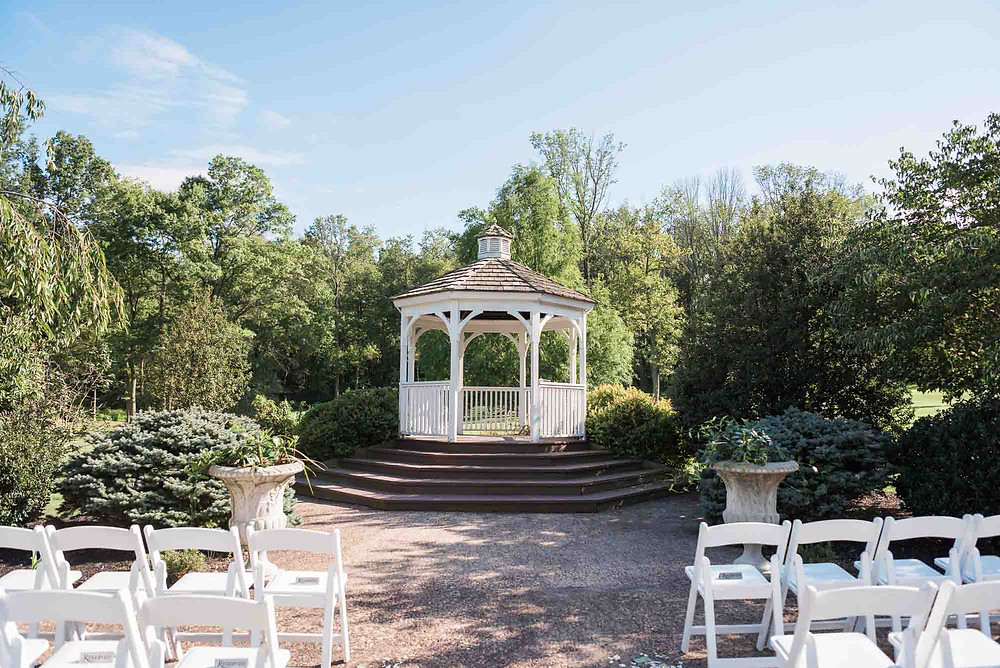 Ceremony Gazebo at Brandywine Manor House in Pennsylvania
