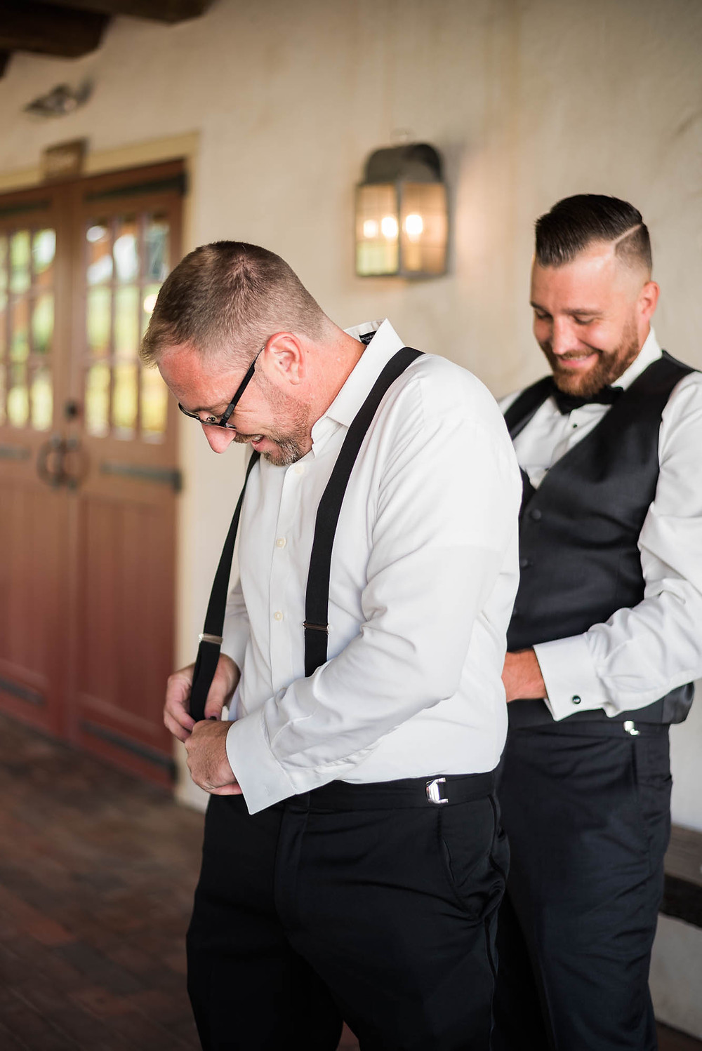 Groom Getting Ready at Brandywine Manor House in Pennsylvania