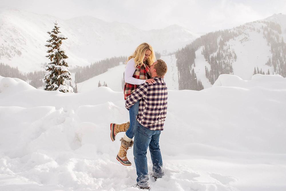 Romantic Winter Engagement Session in Colorado