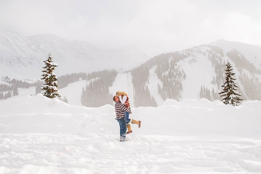 Arapahoe Basin Ski Area Engagement Session