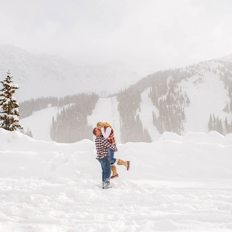 Brittany & Bo's Loveland Pass Winter Engagement